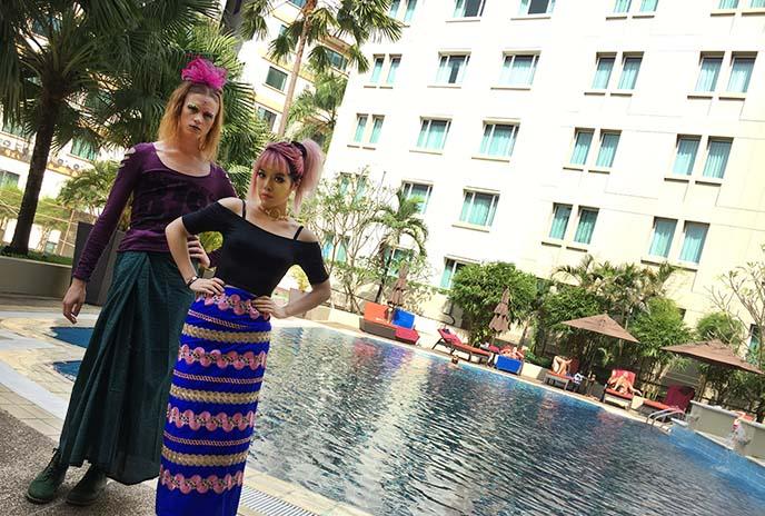 swimming pool myanmar luxury hotel