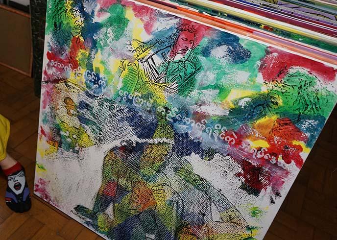 rainbow buddhist paintings