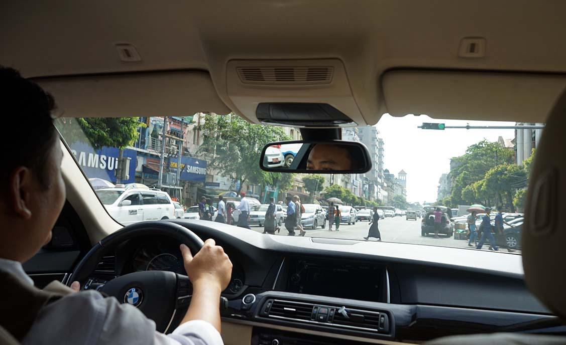 myanmar car driver driving