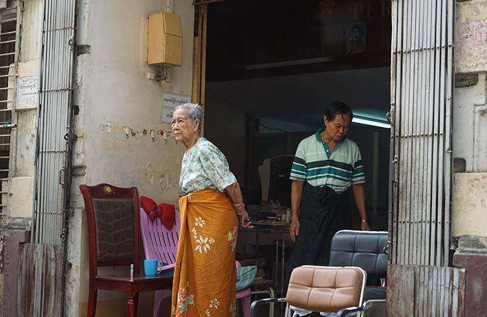 old burmese woman