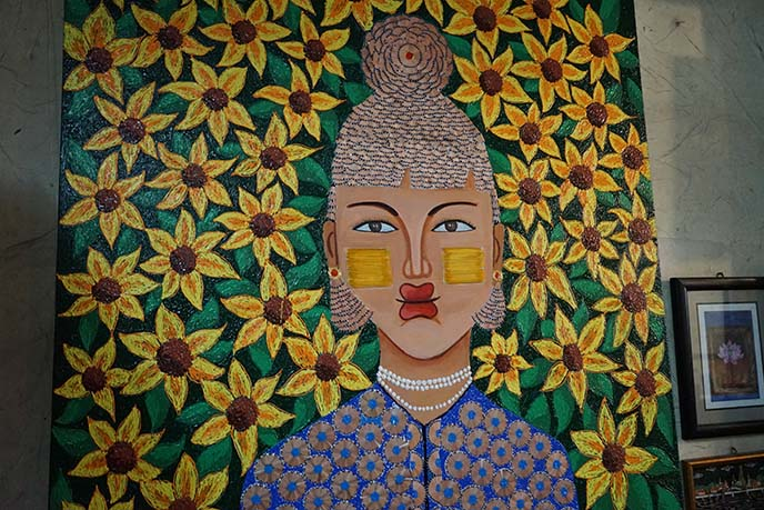 thanaka woman painting burma