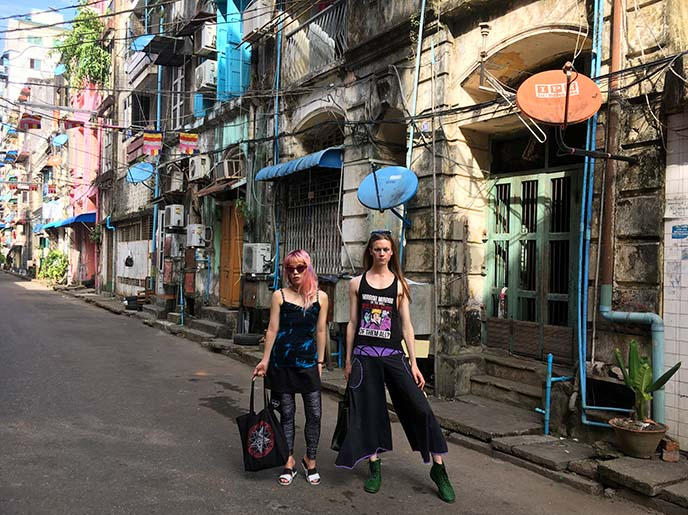 burma street style fashion