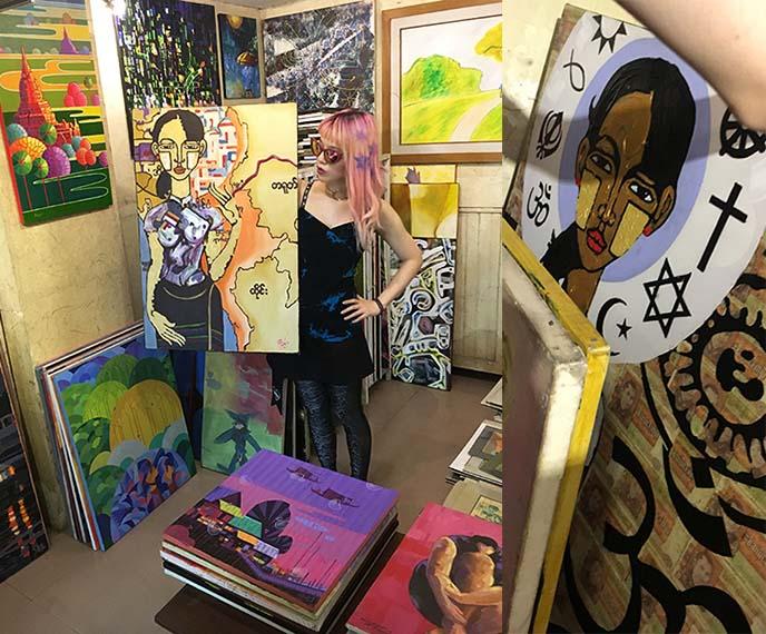 aung san suu kyi portrait painting