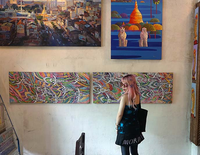 burmese contemporary paintings