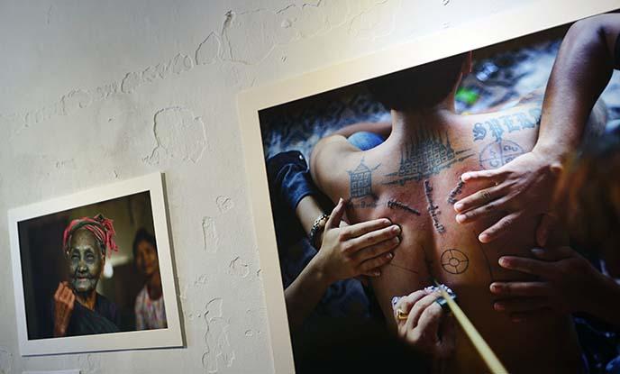 burma tattooing, tattoos face