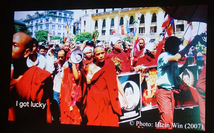 saffron revolution myanmar uprising video
