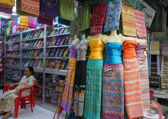 burmese traditional skirts shop