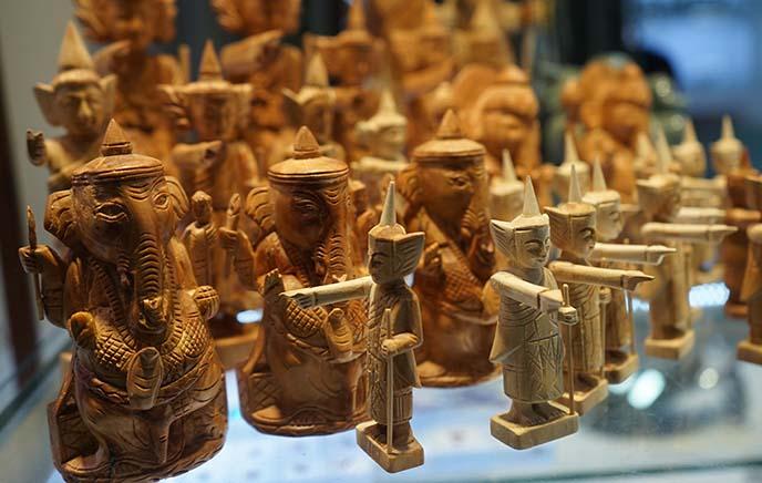 burmese carved buddha statues