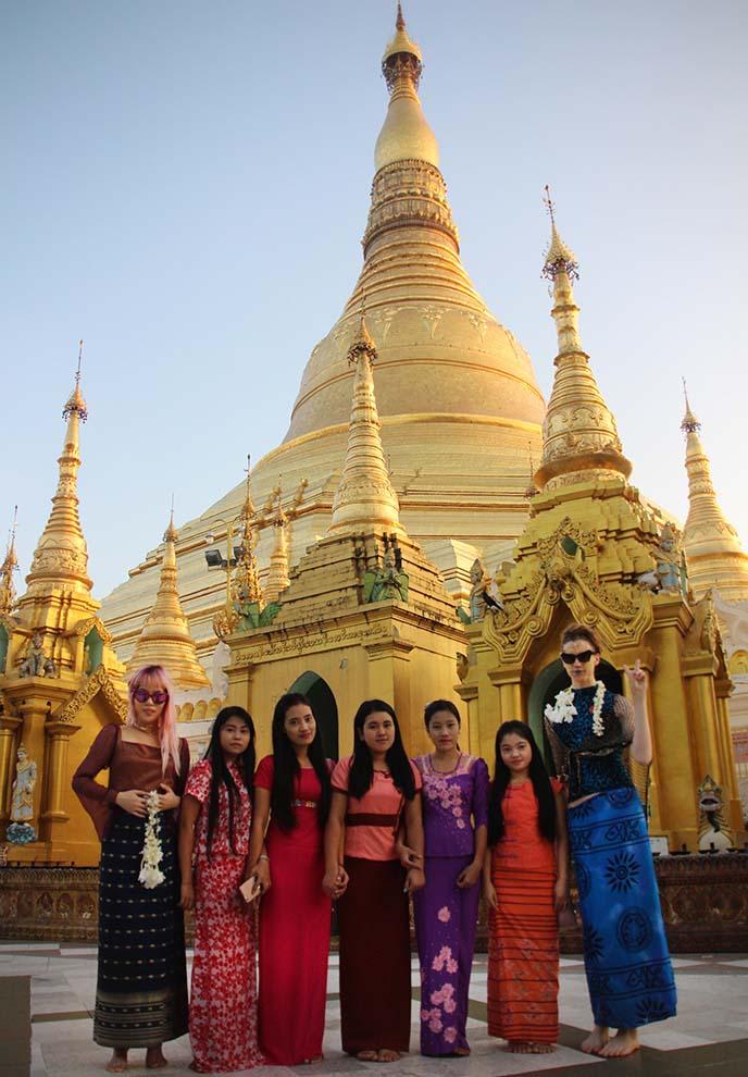 burmese women lonyi fashion skirts