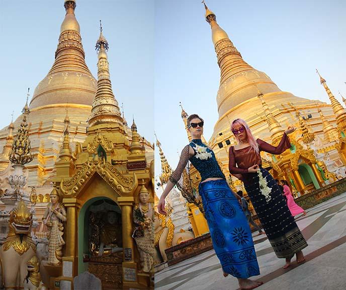 Shwedagon gold pagoda yangon