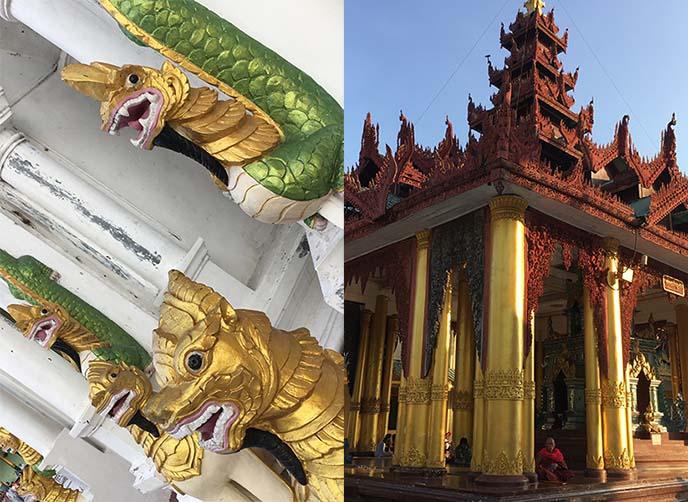 burma snake temple, snakes