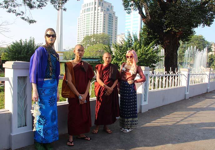 Maha Bandula Park fountain yangon