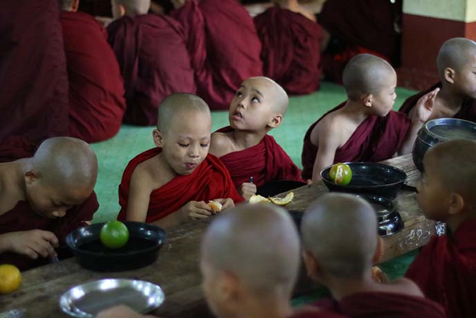 buddhist children monastery rangoon