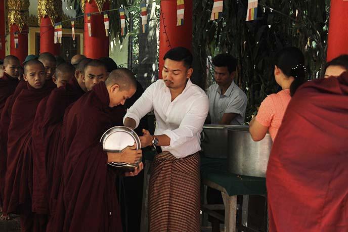 yangon monastery vegetarian food