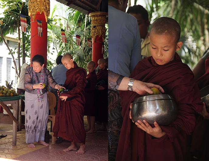 burma monks begging bowl lunch