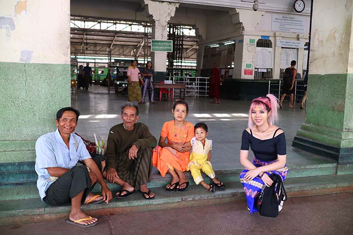 Riding the Yangon Circle Line Train in Myanmar