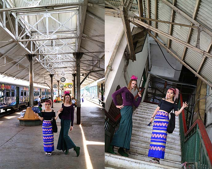 Myanmar Railways train station