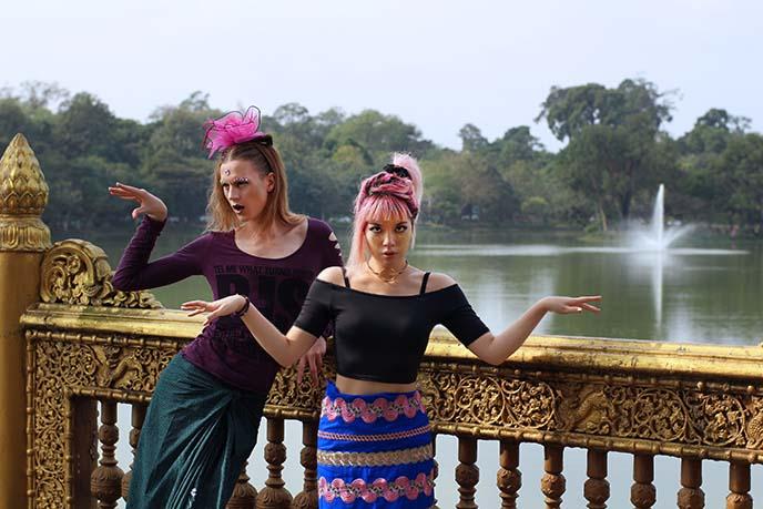 Kandawgyi Lake, Yangon, Burma