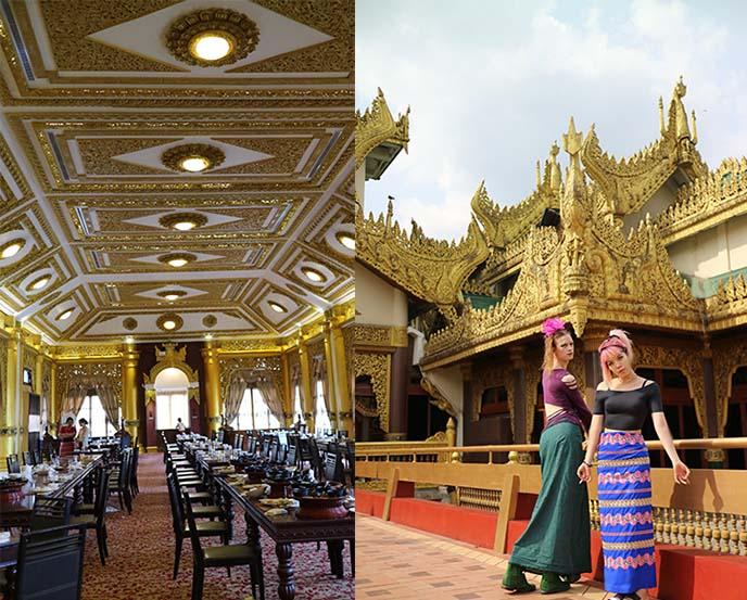 karaweik palace restaurant interior