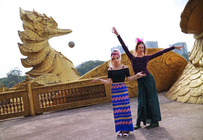 Karaweik Hall duck dragon statue