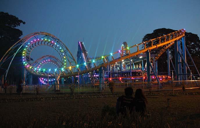 neon burma roller coaster