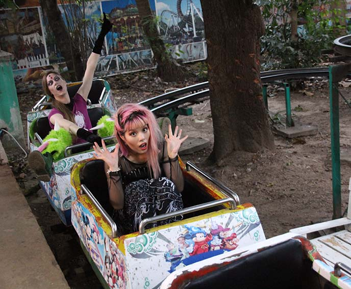 yangon abandoned amusement park rides