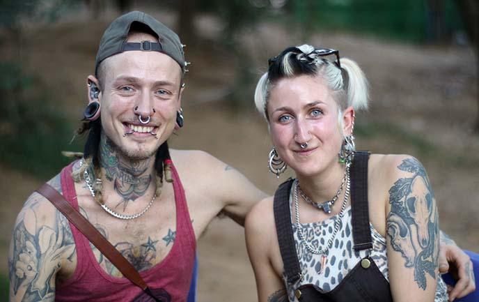 punk hair tattoos earrings