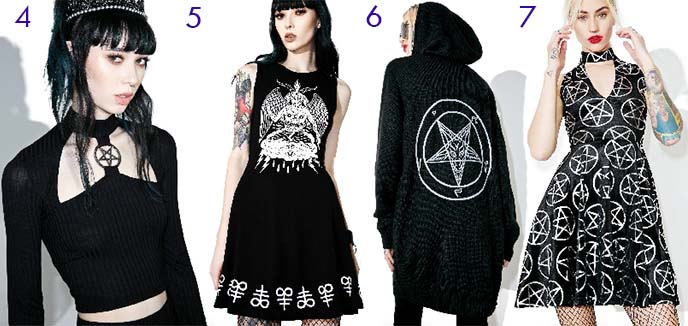 pentagram satanic fashion killstar