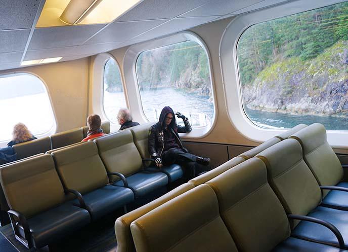 bc ferries interior ferry seats