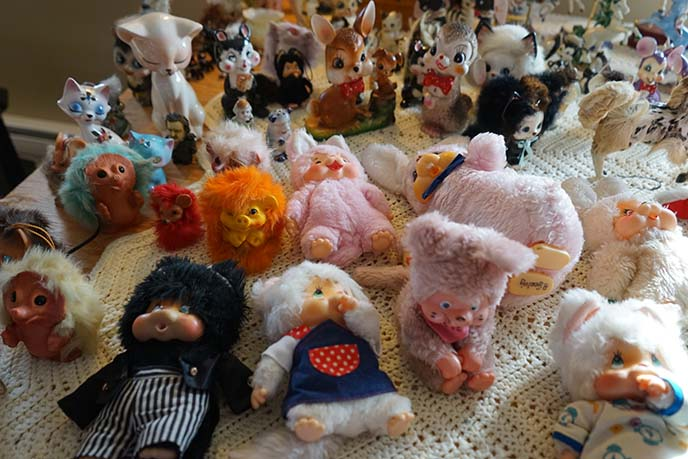 vintage weird stuffed animals collection