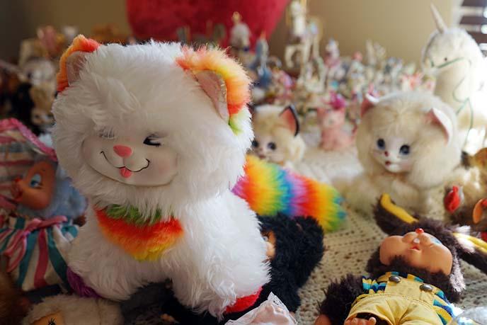 rainbow brite cat plush animal 80s