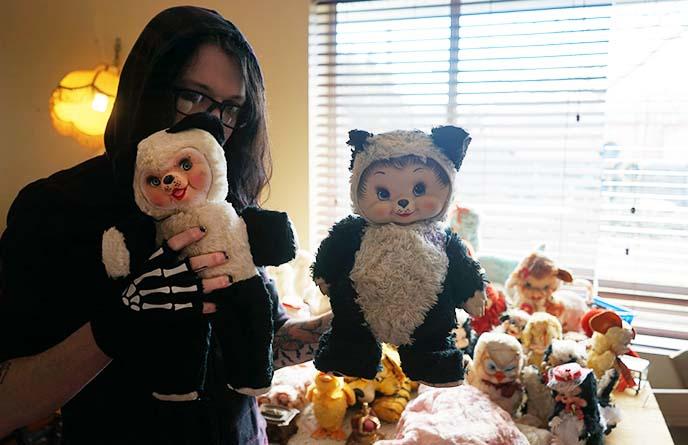 Rushton rubber face panda bear