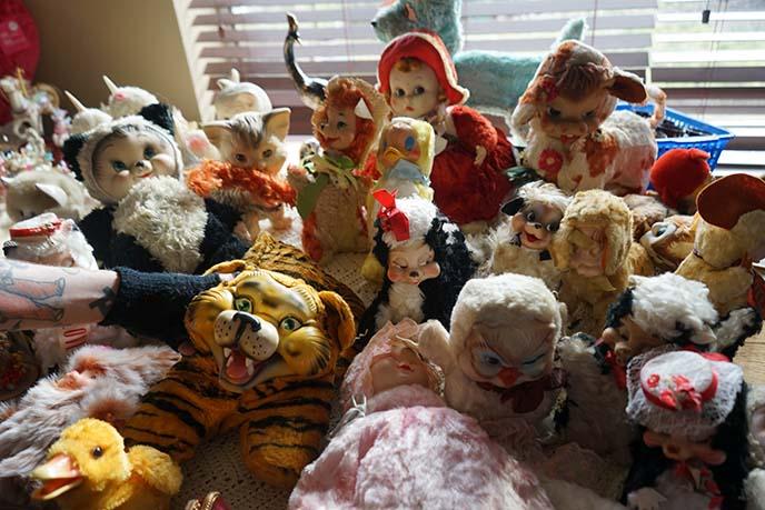 creepy scary Rushton dolls