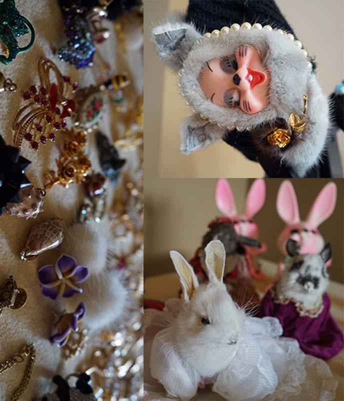 vintage creepy dolls, animals
