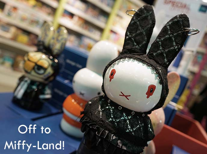 goth punk miffy bunny statue