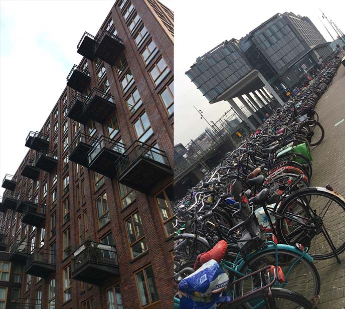 amsterdam rows of bicycles