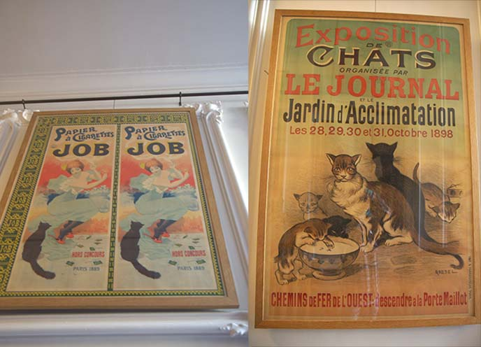 cat posters france 1800s