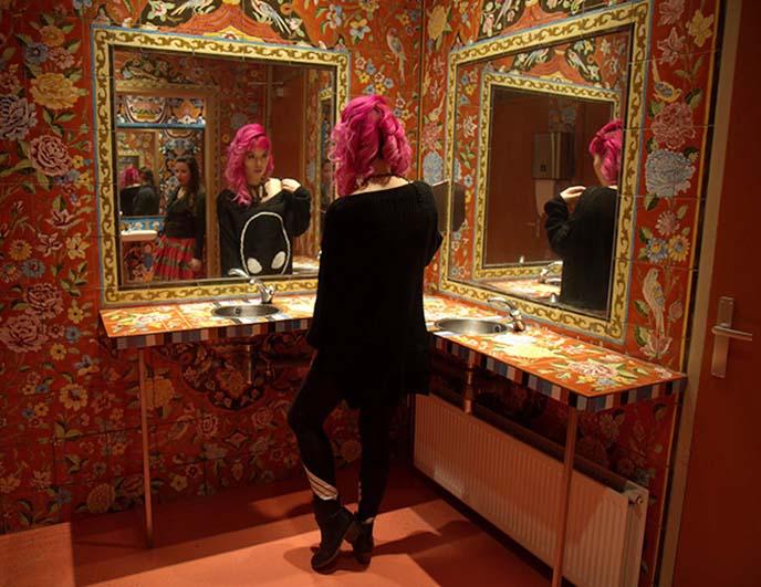 cool morocco bathrooms, mirrors