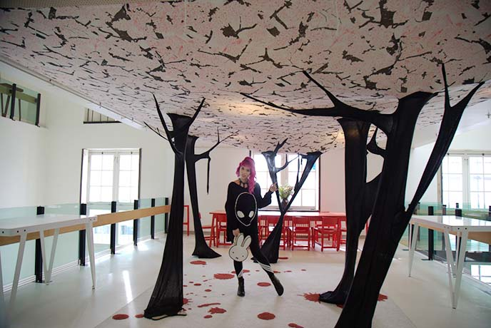 cherry blossom tree art exhibition