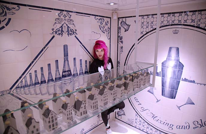 gin KLM Delft Blue houses