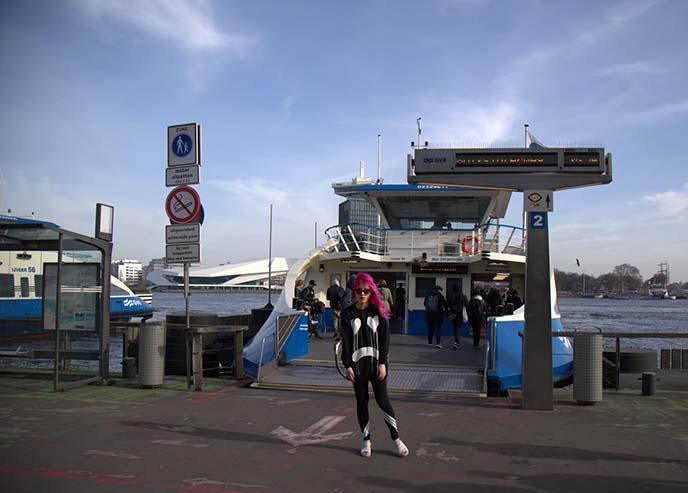 ferry to noord, uptown amsterdam