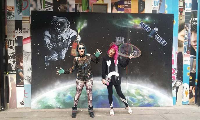 weird bizarre amsterdam murals