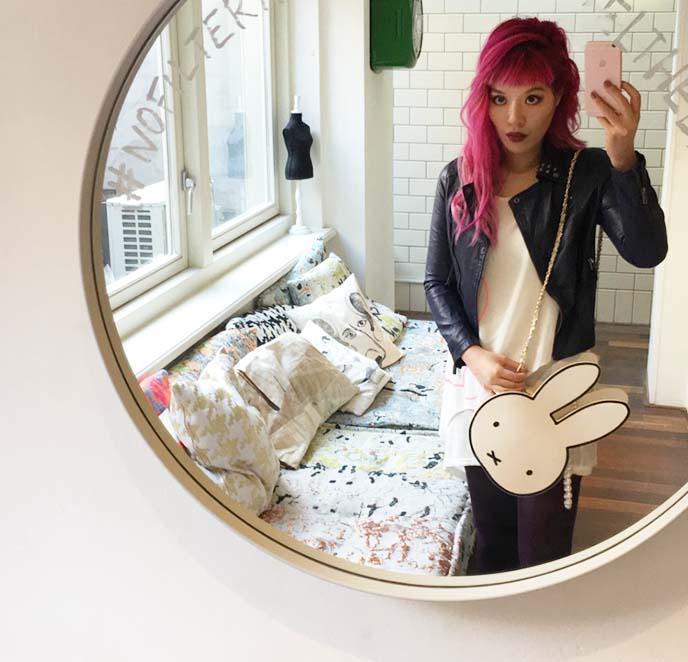 fashion blogger selfie