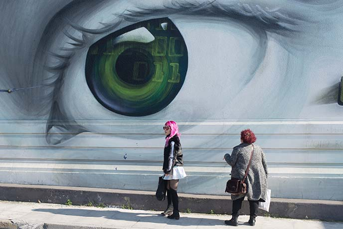 gazi technopolis eye mural