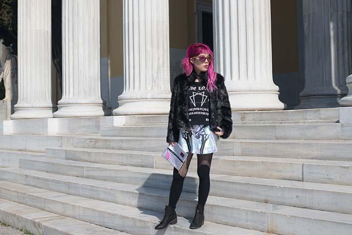 faux fur coat fashion blogger