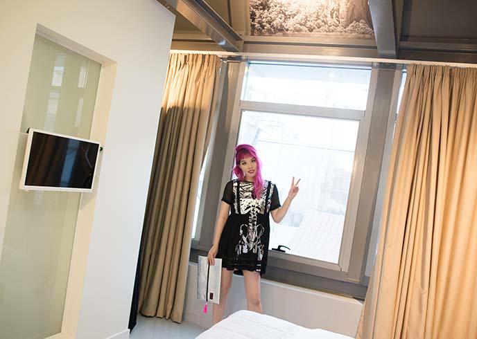 pi suites athens hotel room