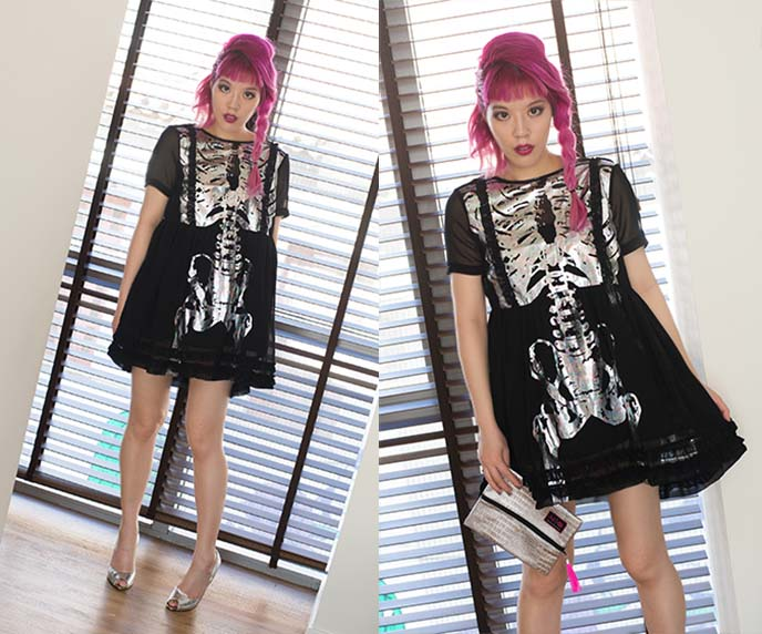 iron fist skeleton babydoll dress