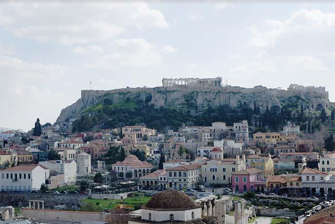 acropolis pantheon ruins hill