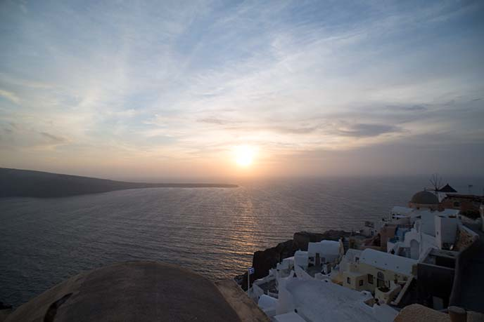 best sunset view in santorini