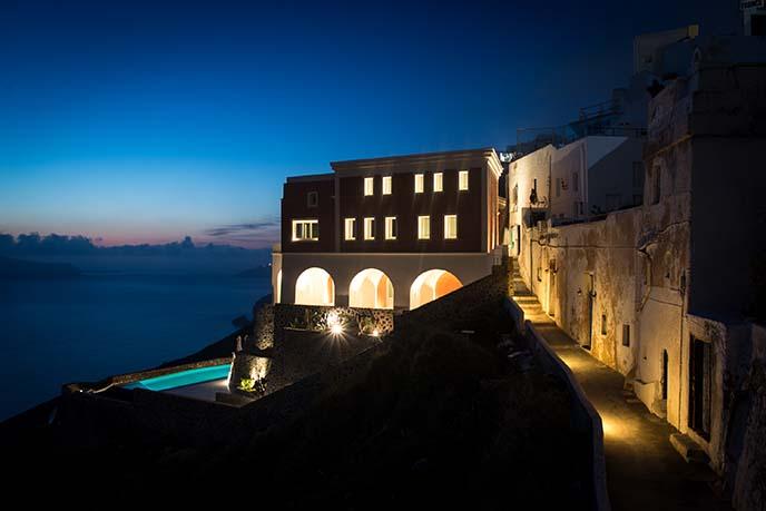 private villa swimming pool santorini